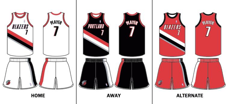 Portland Trail Blazers uniform