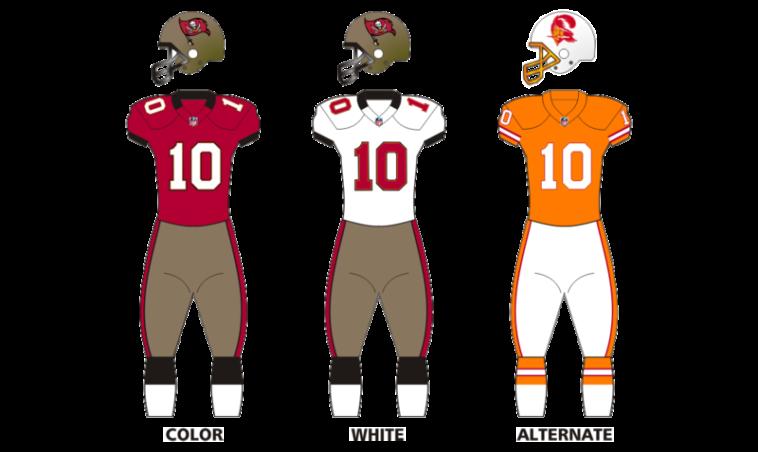 tampa bay buccaneers uniforms